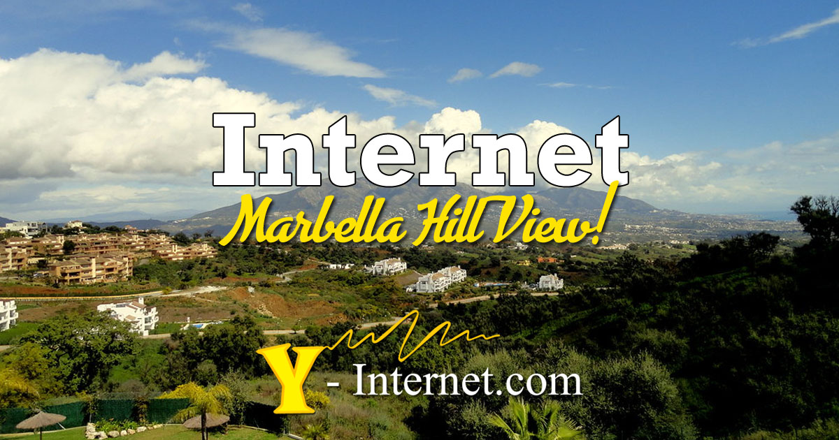 Marbella Hill View.  4G, Fiber & WiFi Internet, Costa Del Sol, Spain.