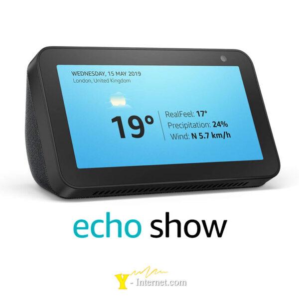 Echo Show 5 Compact Smart Display Alexa Black Y-Internet Smart Home & Security P01
