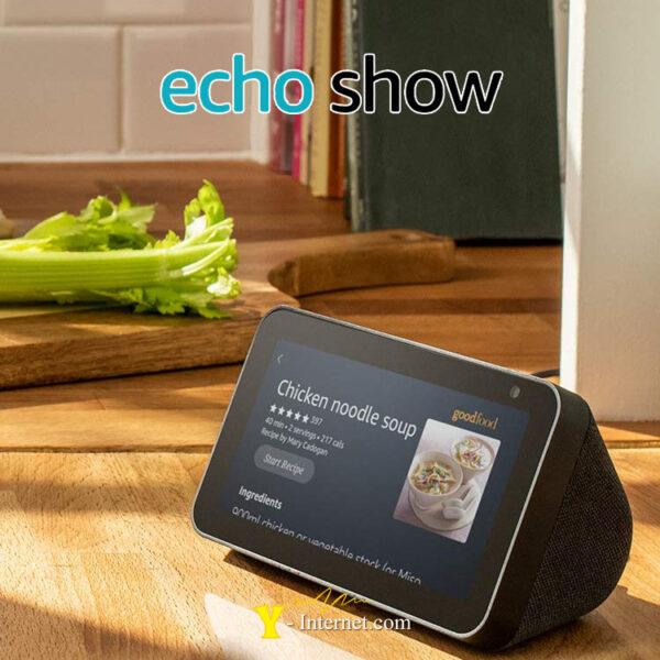 Echo Show 5 Compact Smart Display Alexa Black Y-Internet Smart Home & Security P02