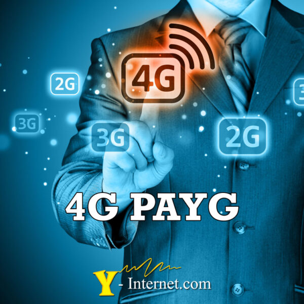 4G PAYG (Pay as you Go) from Y-Internet.com